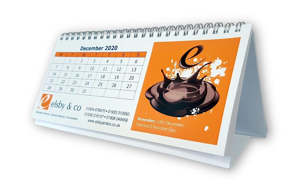 Triangular Desk Top Calendar