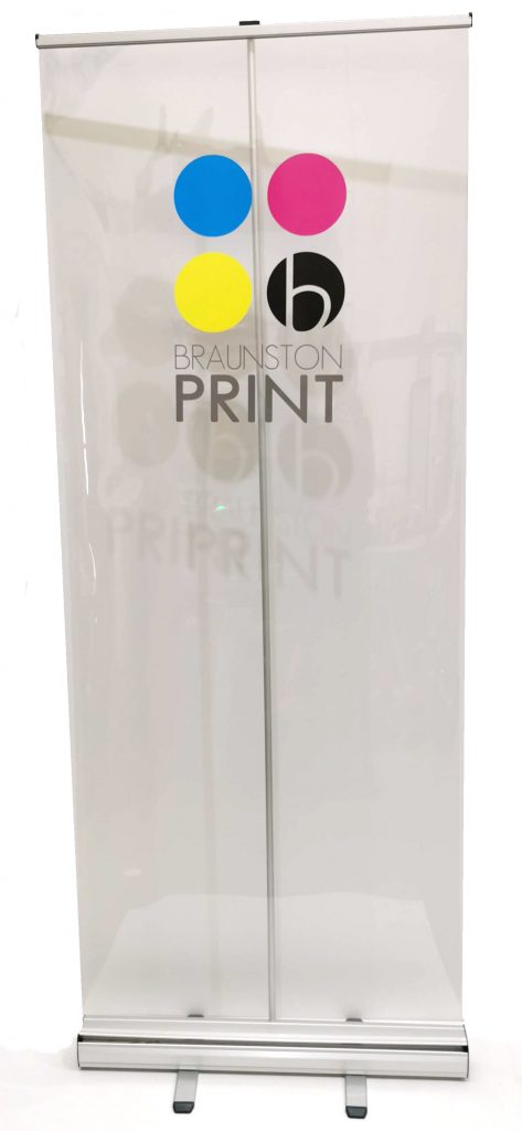 Branded Clear Roll Up Banner